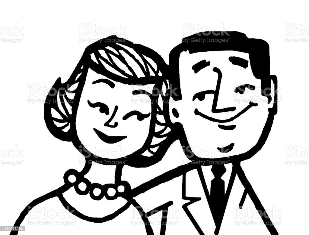 Male and Female Couple royalty-free stock vector art
