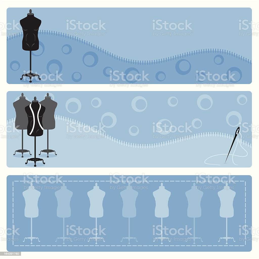 Male clothes mannequin banners. royalty-free stock vector art