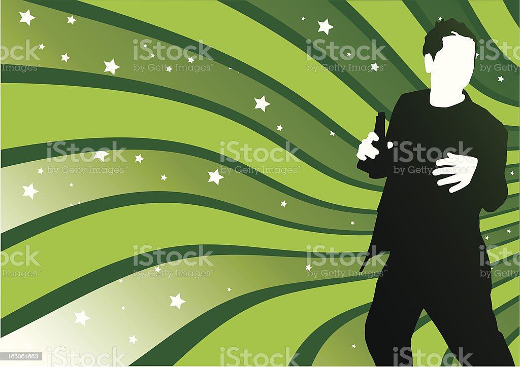 Male Dancer royalty-free stock vector art