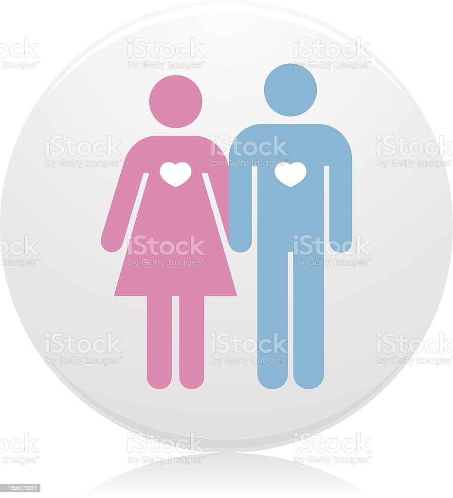 Male / Female Icon vector art illustration