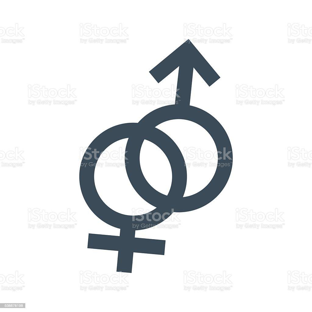 Male Female symbol icon isolated on white background vector art illustration