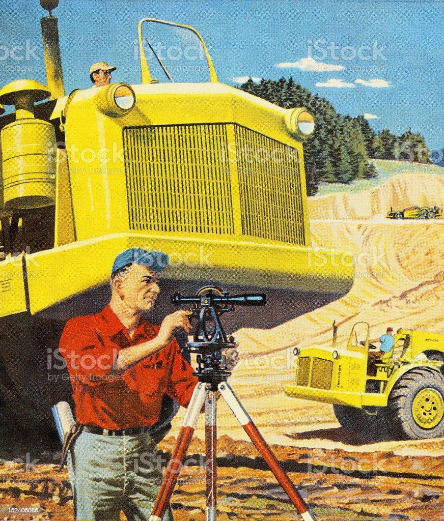 Male Surveyor royalty-free stock vector art