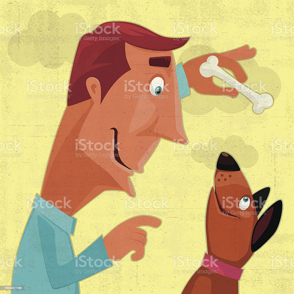 man and dog royalty-free stock vector art