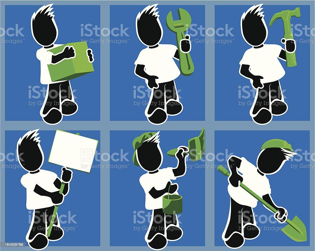 man doing jobs royalty-free stock vector art