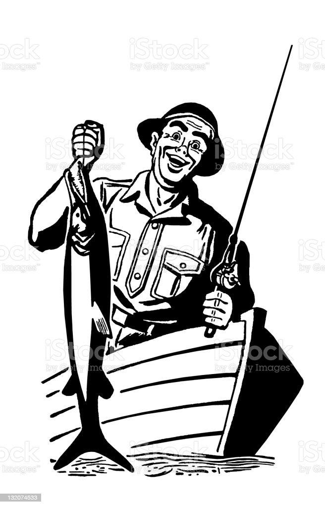 Man Fishing royalty-free stock vector art