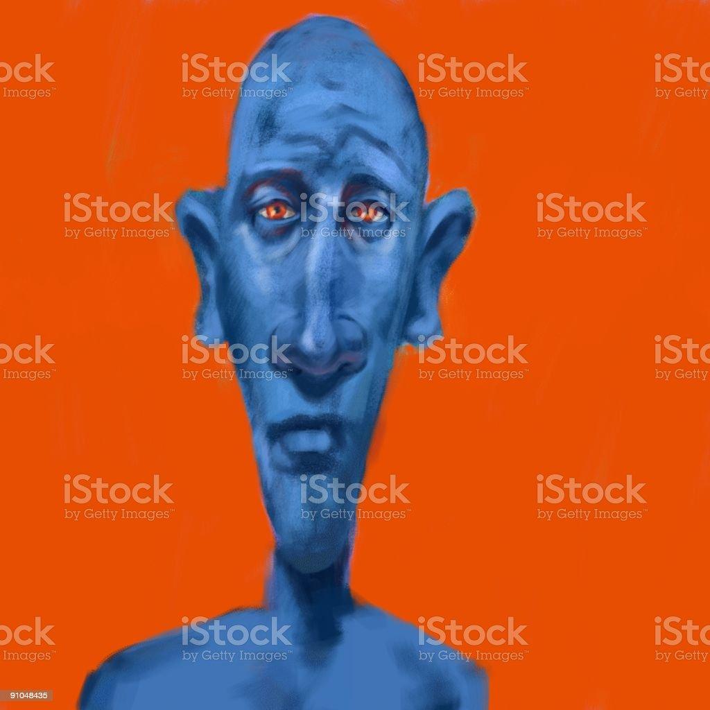 man from mars vector art illustration