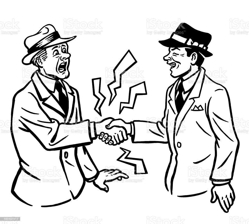Man Giving Shocking Handshake royalty-free stock vector art