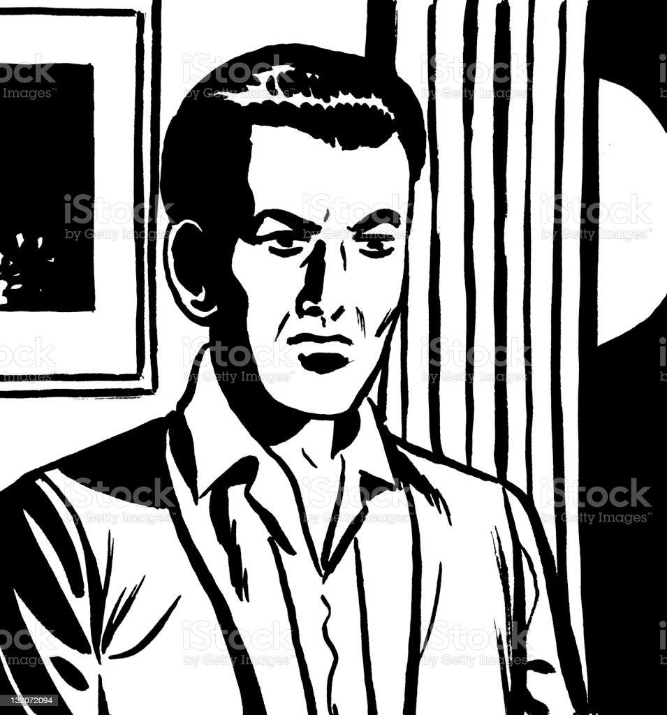 Man vector art illustration