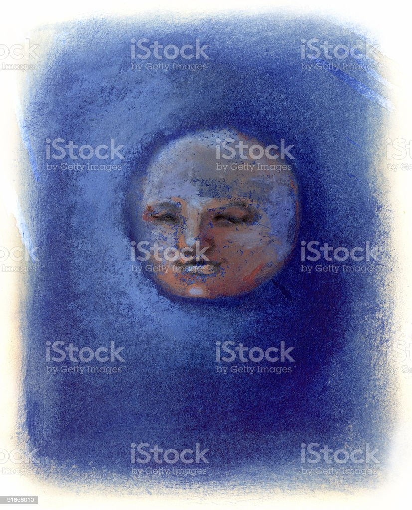 Man in the moon royalty-free stock vector art