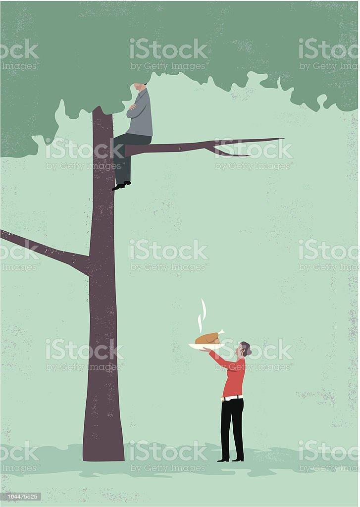 Man in tree royalty-free stock vector art