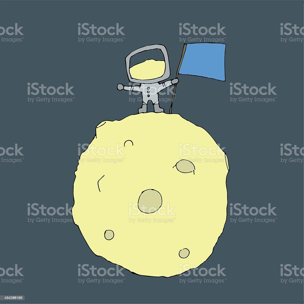Man on the moon royalty-free stock vector art