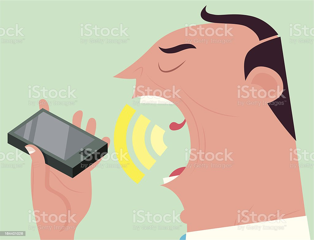 Man On The Phone royalty-free stock vector art
