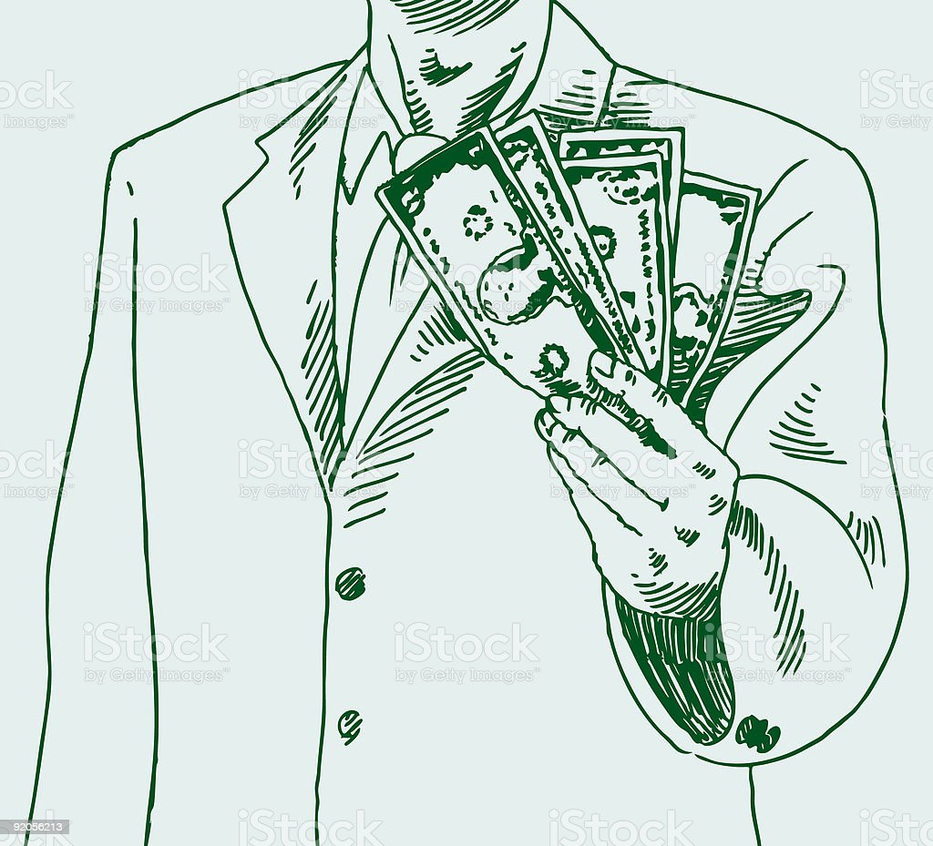 Man Paying Cash royalty-free stock vector art