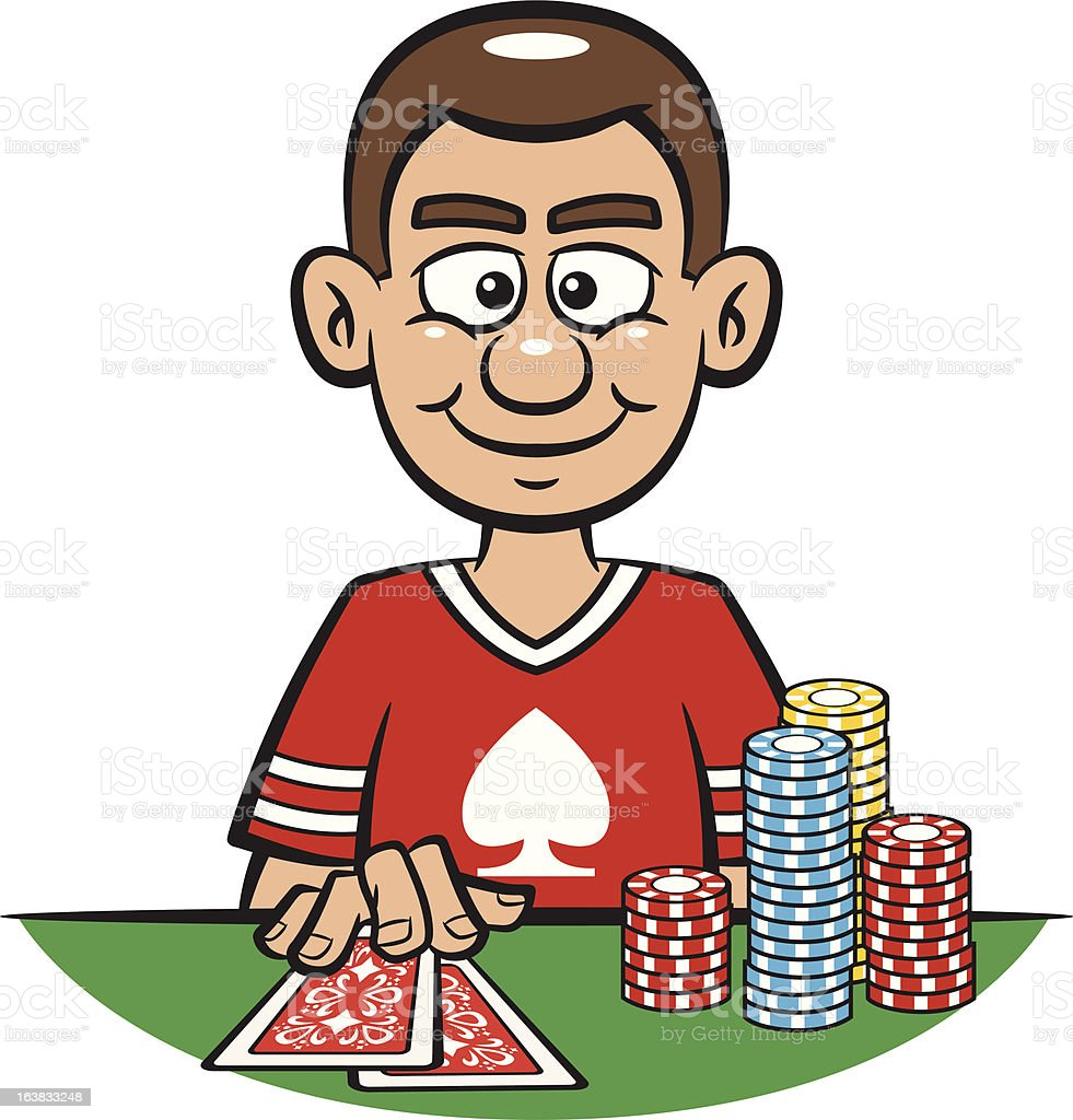 Man Playing Poker royalty-free stock vector art