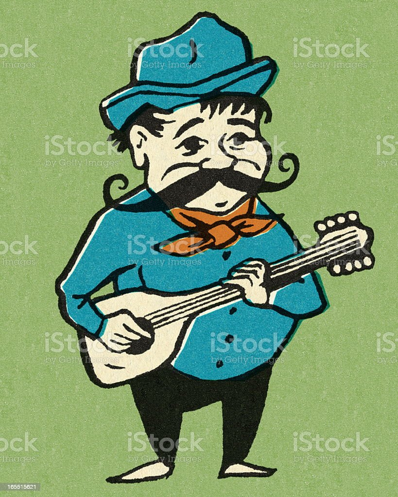 Man Playing the Guitar royalty-free stock vector art