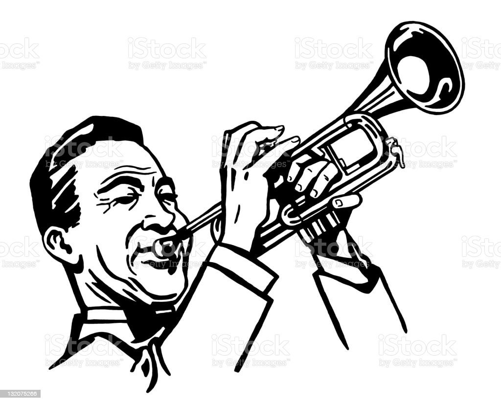 Man Playing Trumpet royalty-free stock vector art