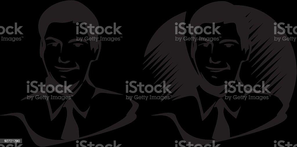 Man portrait royalty-free stock vector art