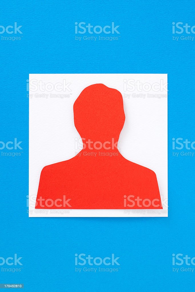 Man profile royalty-free stock vector art