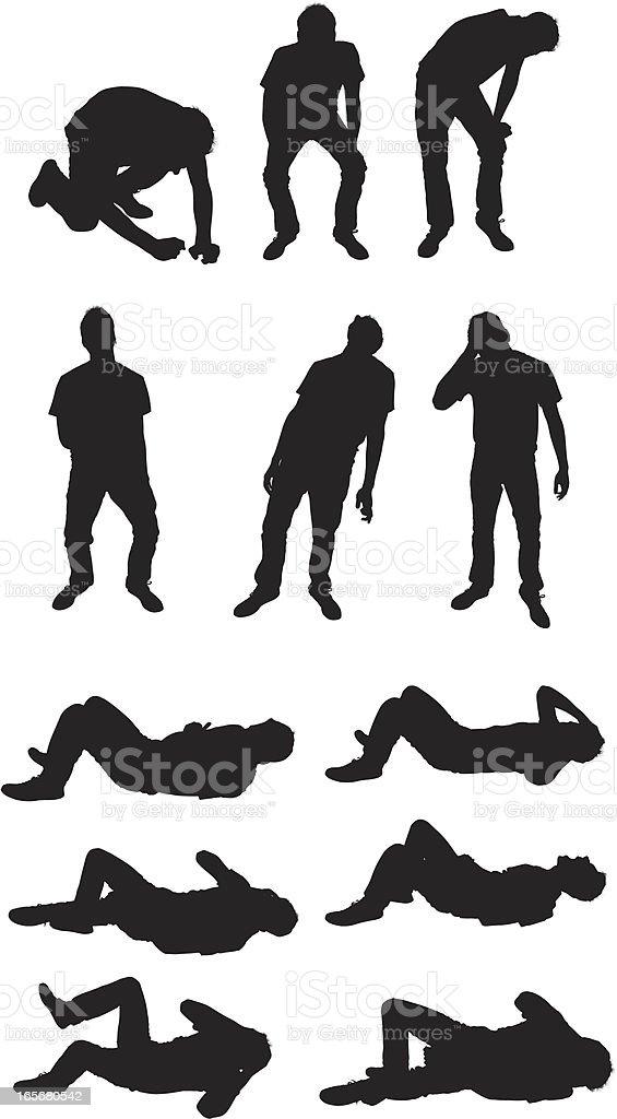 Man rolling in laughter vector art illustration