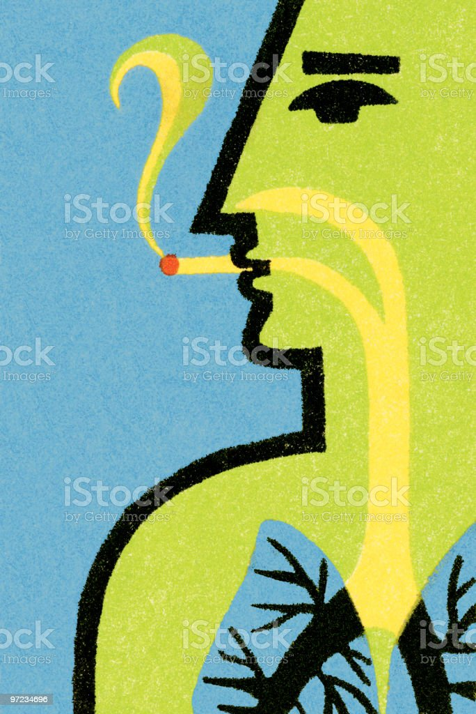 Man smoking royalty-free stock vector art