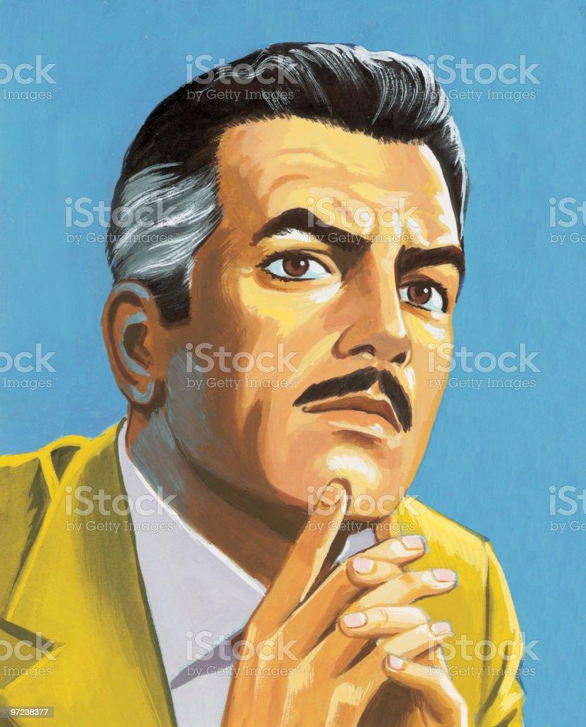 Man Thinking royalty-free stock vector art