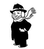 Man Wearing Earmuffs and a Scarf