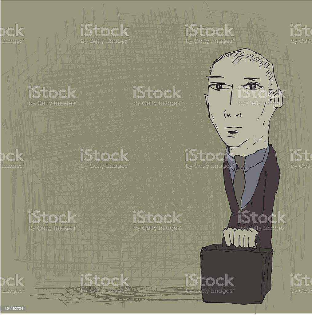 Man With Briefcase royalty-free stock vector art