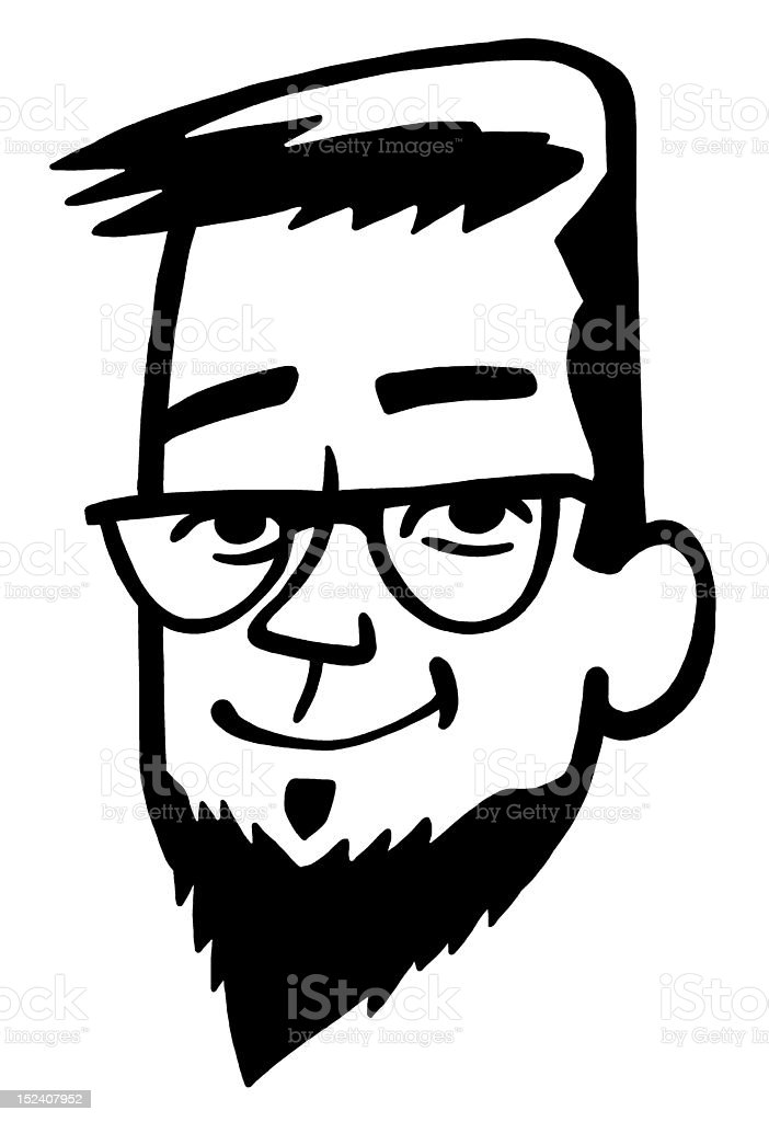 Man With Goatee royalty-free stock vector art