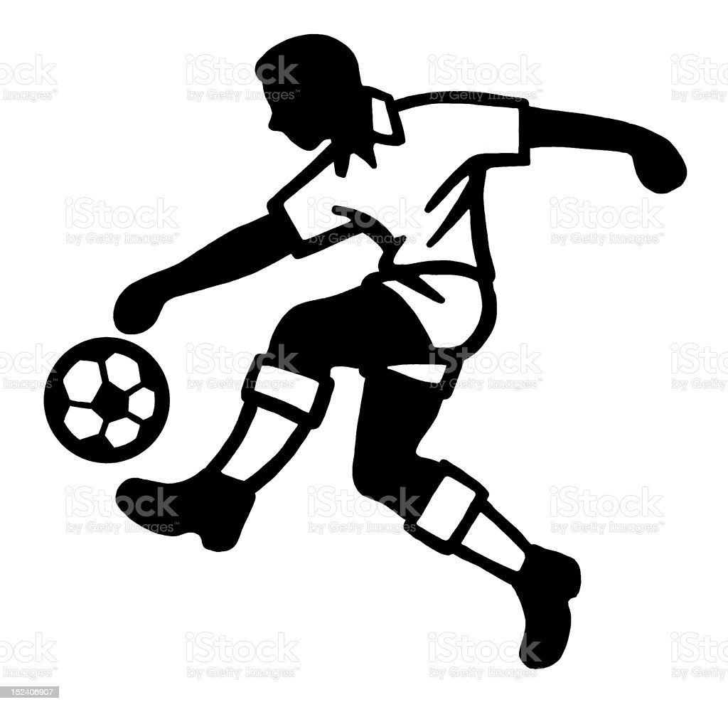 Man With Soccer Ball royalty-free stock vector art