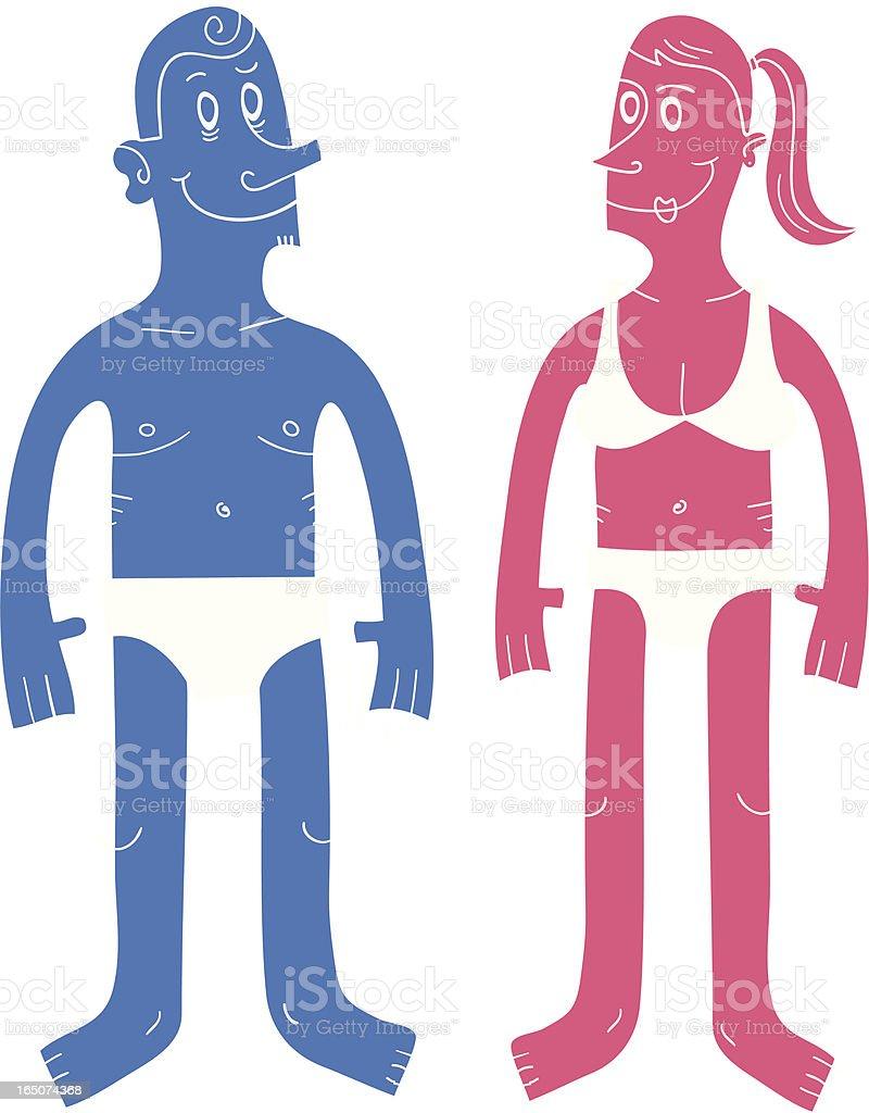 Man & Woman royalty-free stock vector art