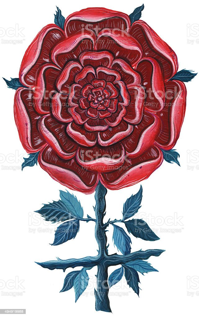 Mandala rose. vector art illustration