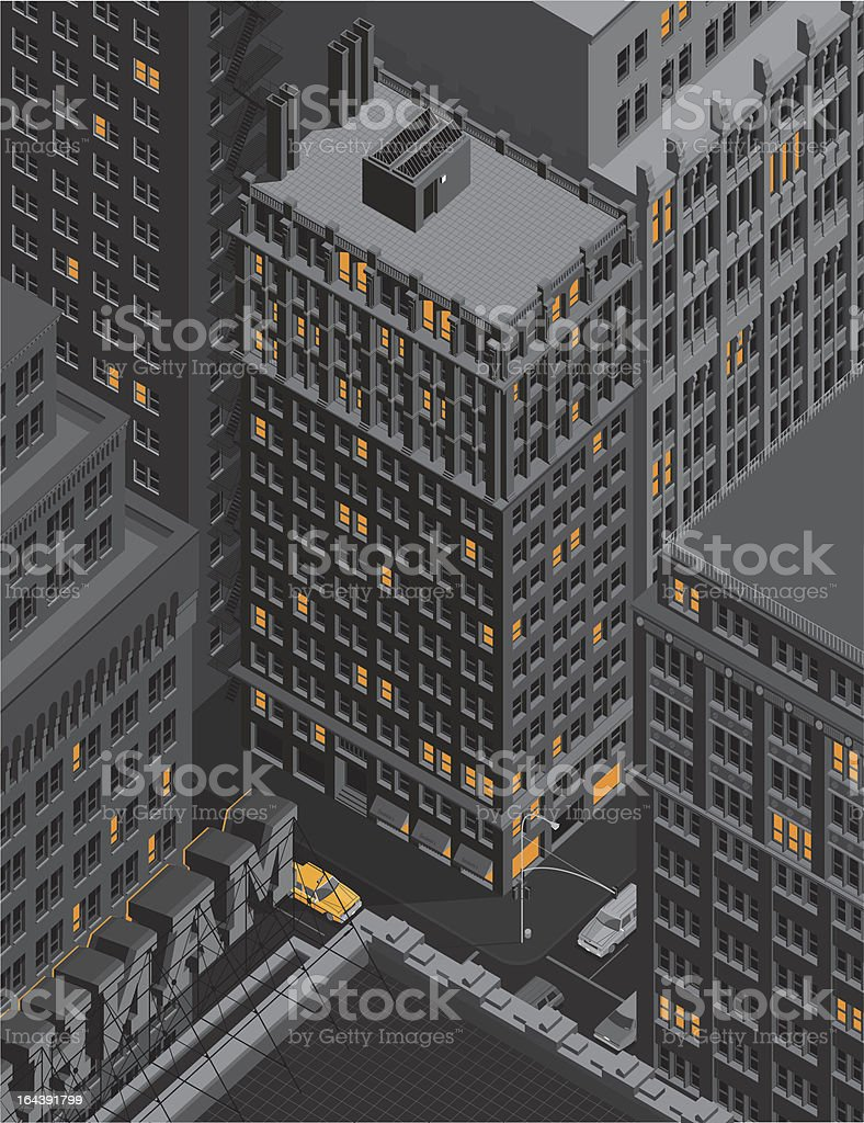 Manhattan vector art illustration