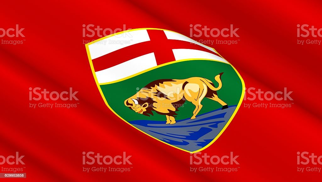 Manitoba flag background. vector art illustration