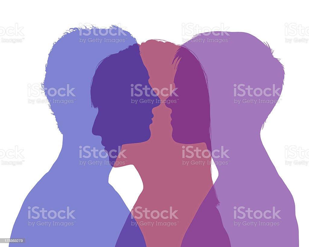 man's infidelity vector art illustration