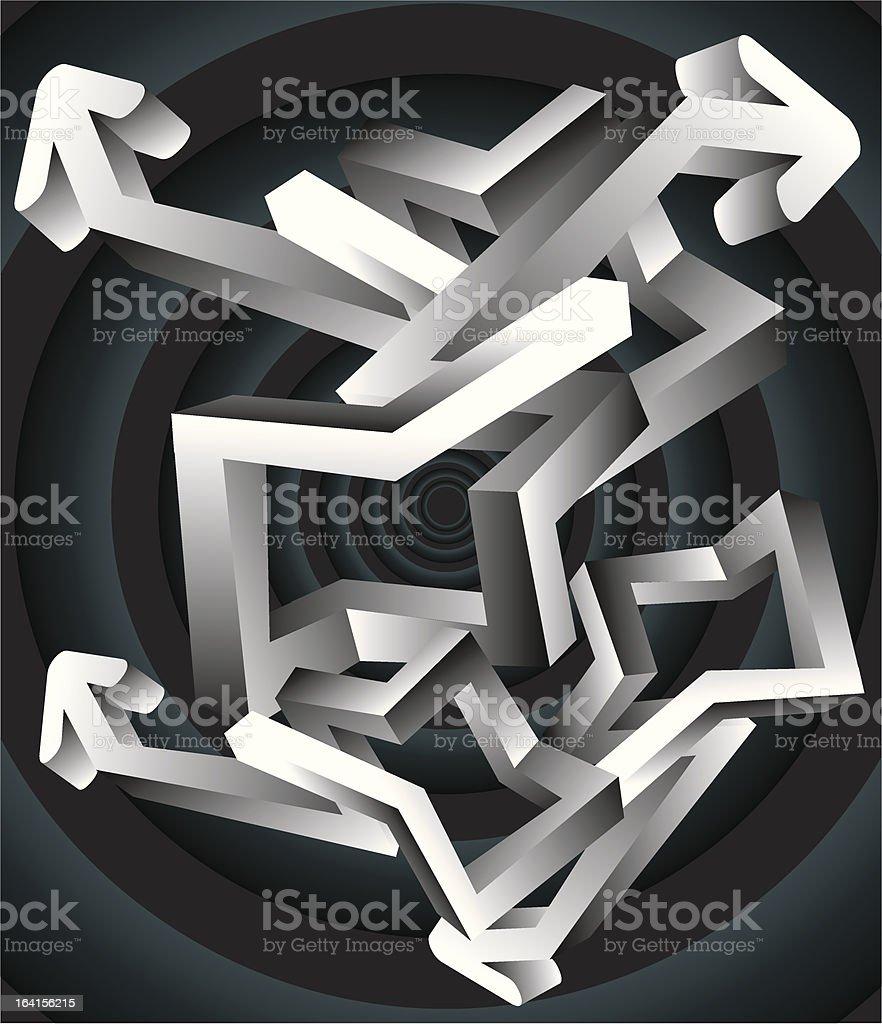 Many Arrows royalty-free stock vector art