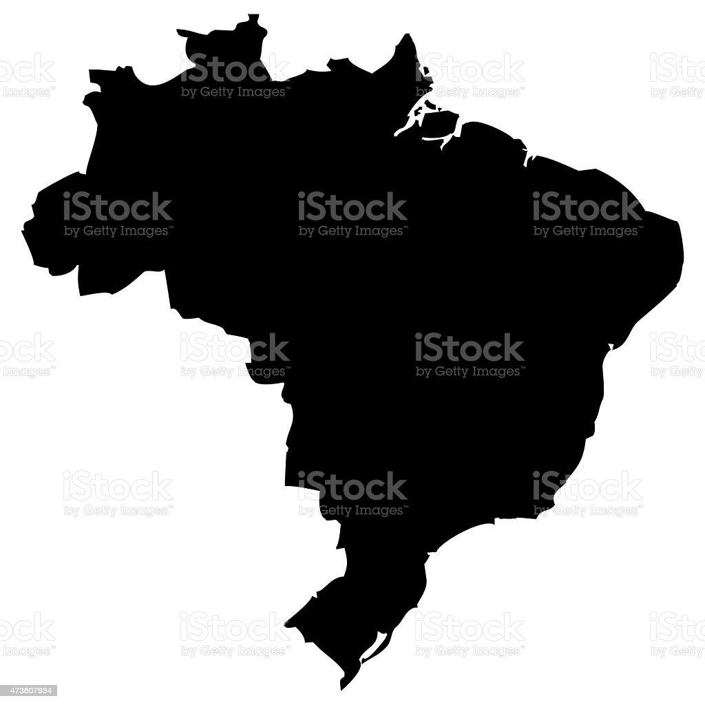 Map Brazil vector art illustration