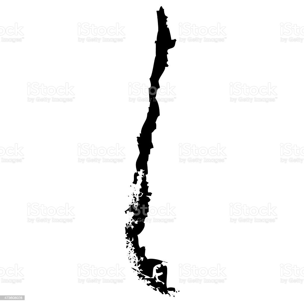 Map Chile vector art illustration