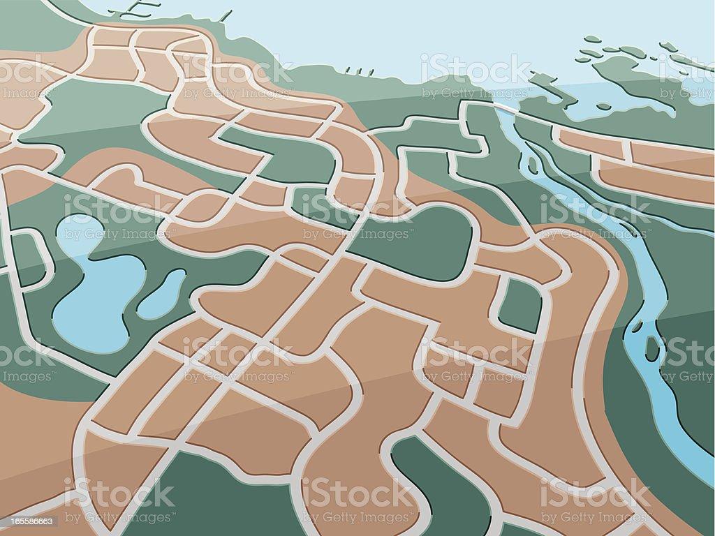 Map Coastal City royalty-free stock vector art