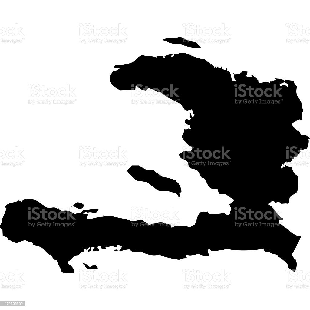 Map Haiti vector art illustration