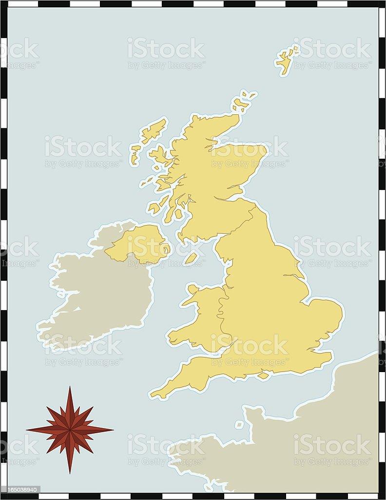 UK Map royalty-free stock vector art