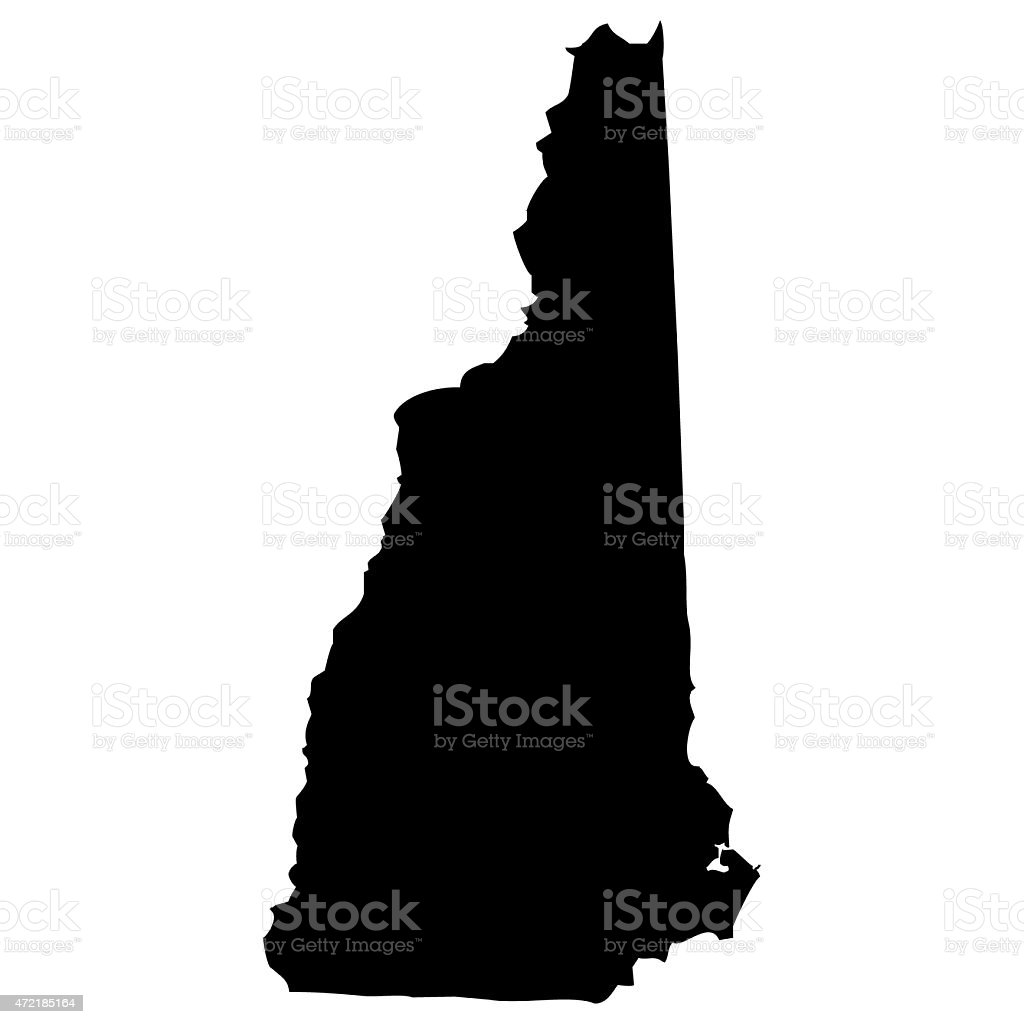 Map New Hampshire vector art illustration