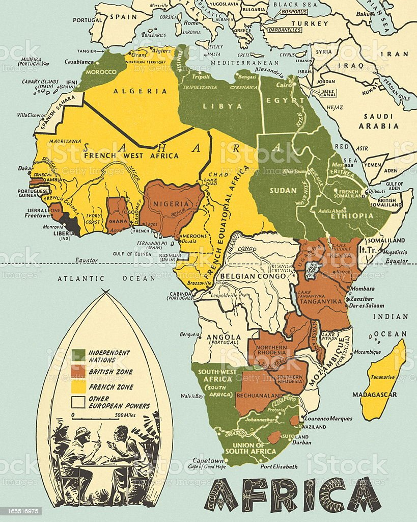 Map of Africa royalty-free stock vector art