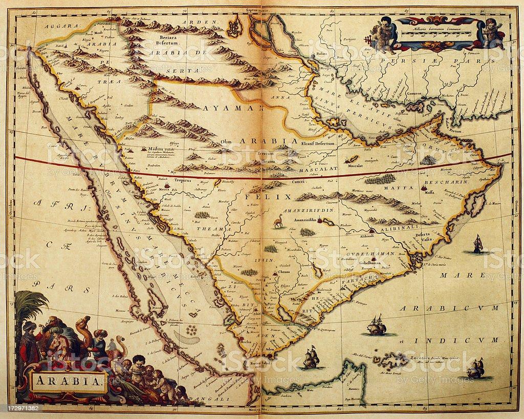 Map Of Arabia 1635 stock vector art 172971382 – Map of Arabia