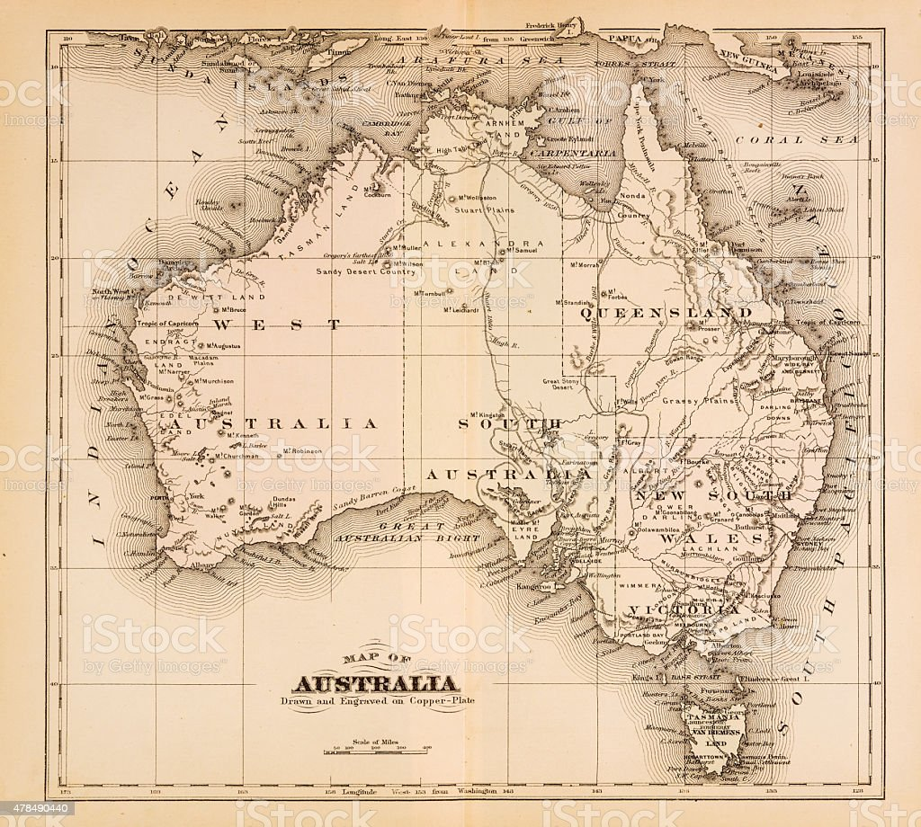 Map Of Australia  Stock Vector Art  IStock - Map of us drawn by australian