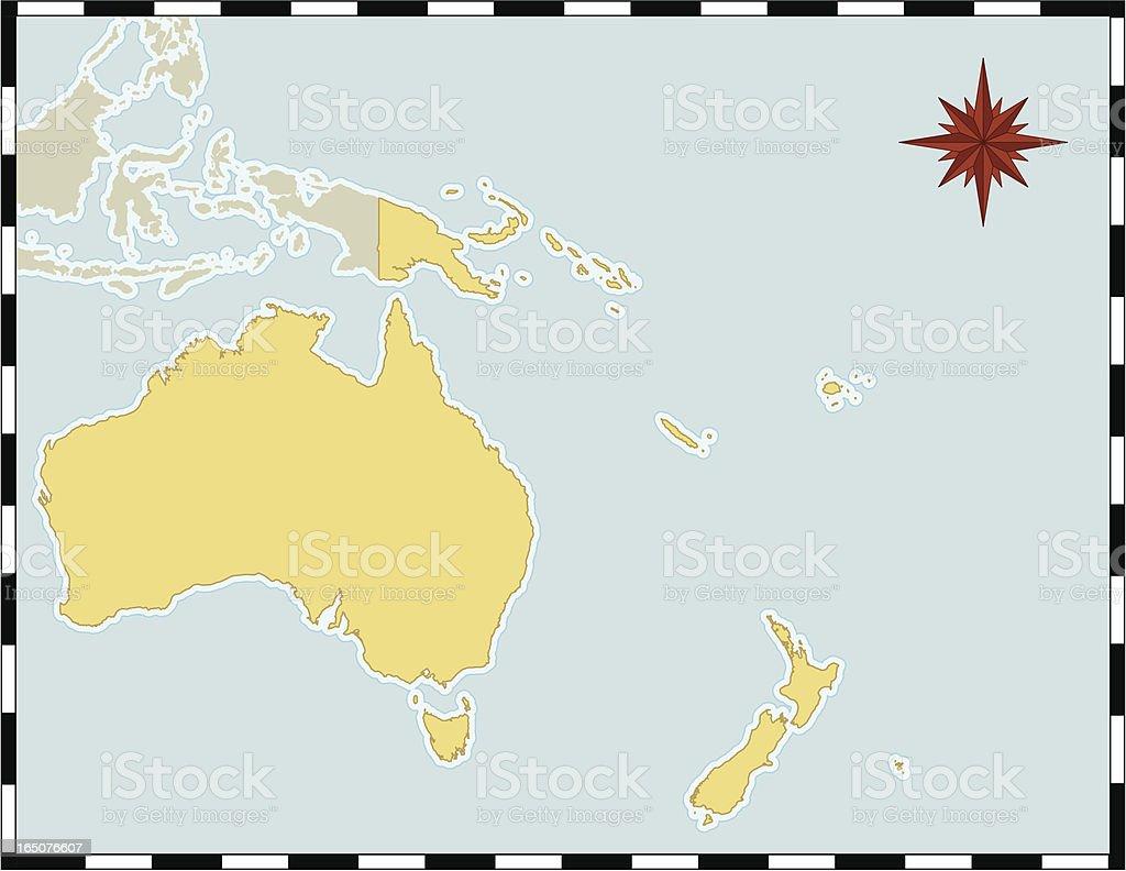 Map of Oceania vector art illustration