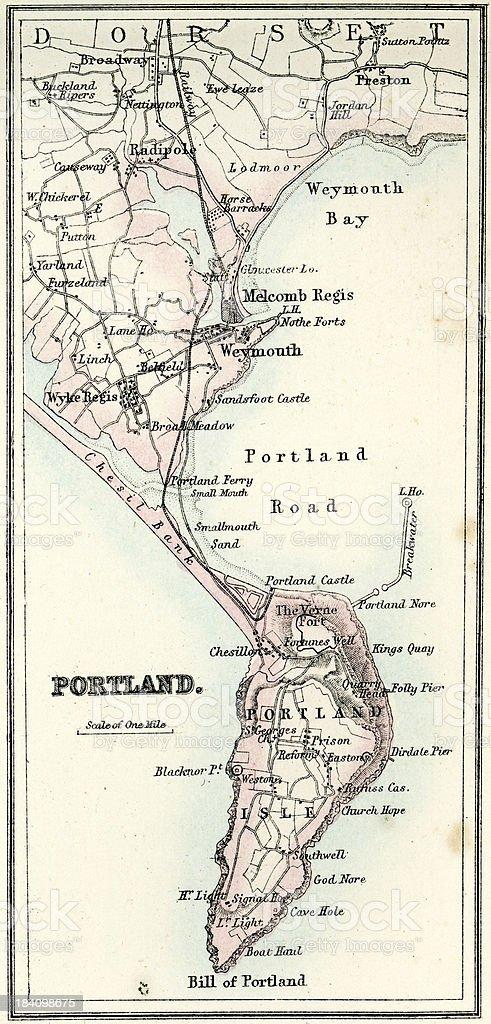 Map of Portland vector art illustration