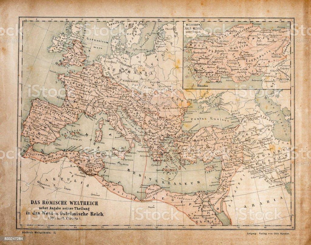 Map of Roman Empire in the Apostolic Age vector art illustration