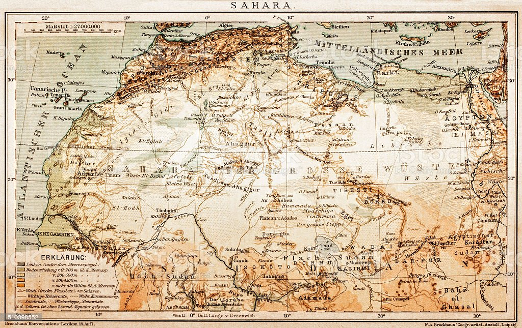 Map of Sahara vector art illustration