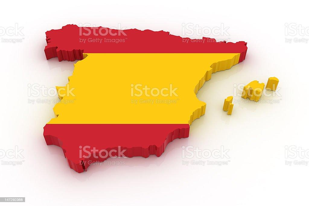 Map of Spain vector art illustration