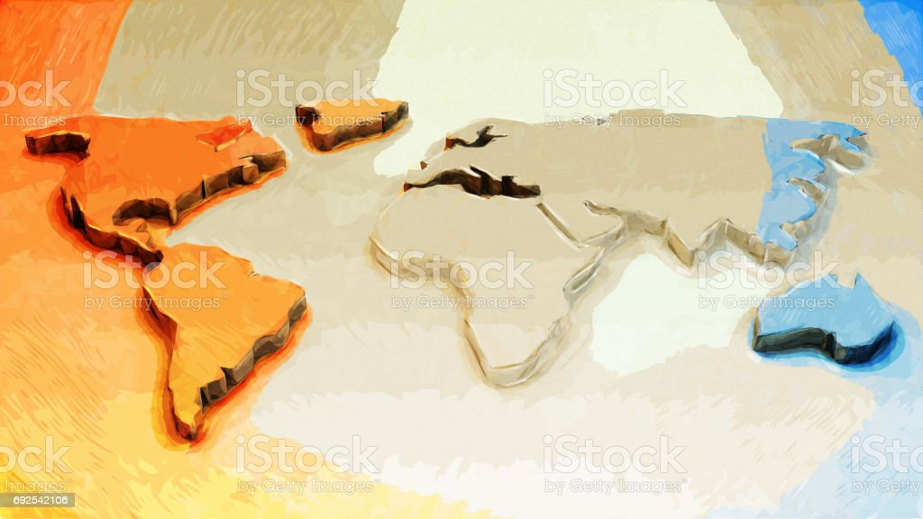 Map of the world vector art illustration